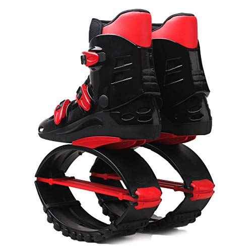 GHH Zapatillas de saltar para adultos, para rebotar, para saltar, deportivas, para adultos, adolescentes, unisex, para hacer deporte, adelgazar, color negro y rojo, 36/38 EU
