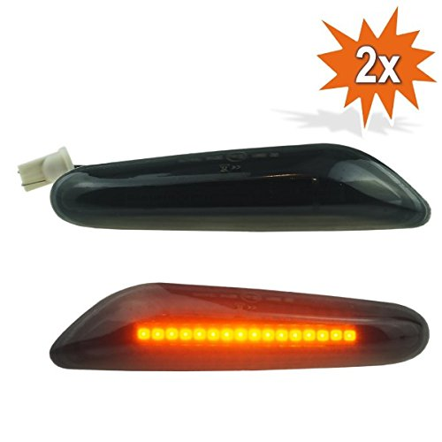 LED Intermitentes laterales para negro Smoked