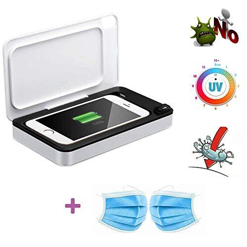 Jilisay UV-Handy-Sterilisator, UV-Desinfektion Box, 3in1 beweglicher automatischer Sterilisator Desinfektor Box mit Wireless-Charging und Aromatherapie for Handys, Kosmetik, Uhren, Masken ect