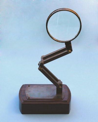 Solid Brass Magnifying Glass Solid Vintage Desktop Adjustable Stand
