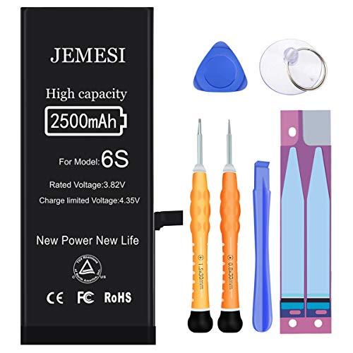 Akku für iPhone 6S 2500mAh, JEMESI Hohe Kapazität Batterie mit Professionellem Reparatursatz, Klebeband und Bedienungsanleitung(2 Jahre Garantie)