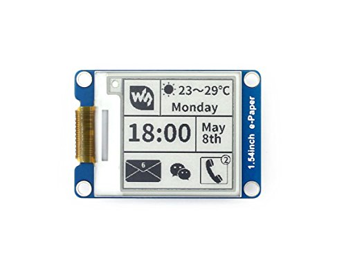 Waveshare 1.54Inch E-Paper Display Panel Module Kit 200x200 Resolution 3.3v E-ink Electronic PaperScreen with Embedded Controller for Raspberry Pi/Arduino/Nucleo Support Partial Refresh SPI Interface