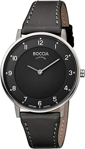 Boccia Damen Analog Quarz Uhr mit Leder Armband 3259-02