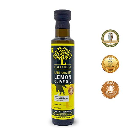 Liokareas Late Harvest Lemon Greek Extra Virgin Oil - Premium EVOO