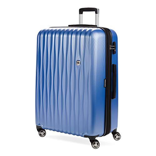 SWISSGEAR 7272 Energie Hardside Polycarbonate Spinner, Large Checked Luggage - Periwinkle Blue