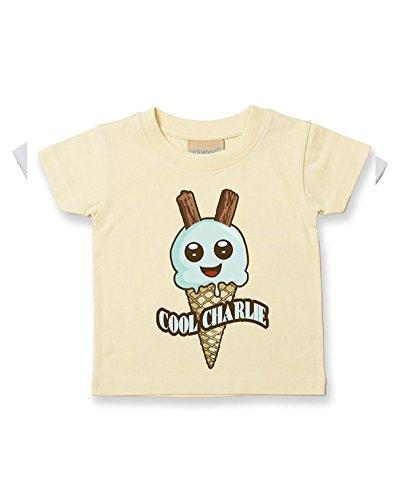 T-shirt en coton doux pour bébé/enfant - Jaune - 2-3 ans