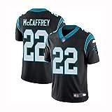 Yitamn Rugby Jersey, NFL Black Panther 22# McCAFFREY Jersey Fan Version Men's T-Shirt