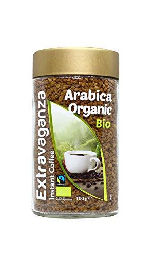 Extravaganza - Lot de 6 paquets de café instantané Arabica bio et issu du commerce équitable, 6x100g