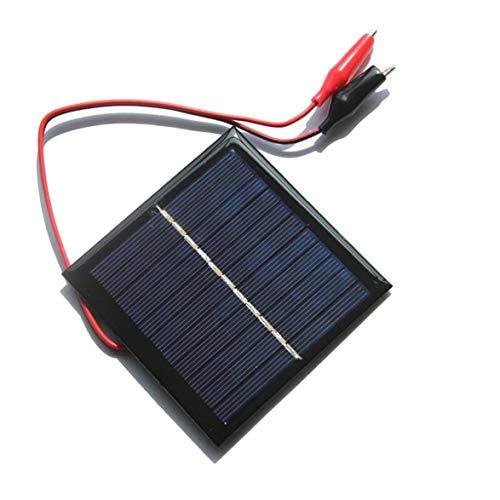 Sylvialuca Solar Panel Charging Board Polykristallines Silizium DIY Ladegerät für 3.7V Akku Ladegerät mit Tiger Clip 1W 5.5V