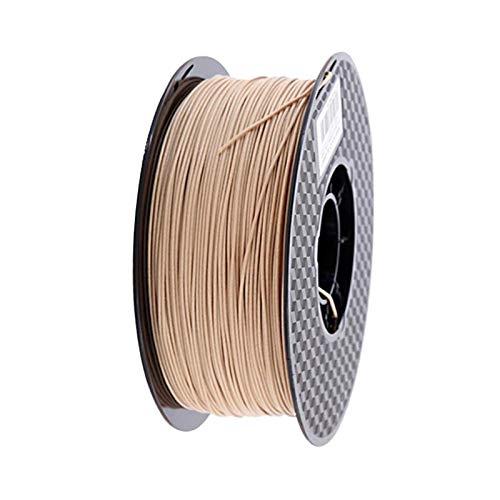Pla Legno filamento PLA 3D 1,75 millimetri stampante 250g / 0,5 kg / 1Kg stampa 3D Materiale chiaro rosso scuro legno Colore Filamenti nessuna bolla 04 (Color : Red Wood 500g)