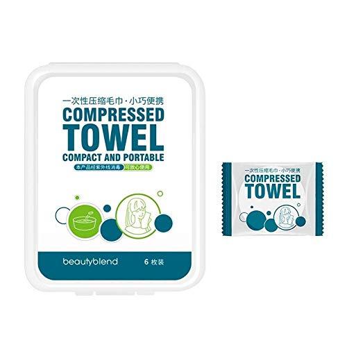 Benrise wegwerp compressie handdoek katoen katoenen handdoek dikker toename gezicht wassen handdoek handdoek doekje outdoor reizen draagbare 6 stuks/doos