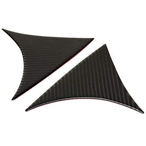 Cubierta del alerón de la ventana trasera, marco de la guarnición de la cubierta lateral del alerón del alerón de la ventana trasera de fibra de carbono 2pcs para 3 2014-2018