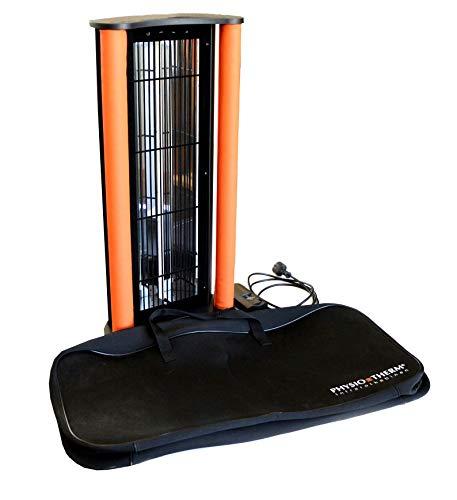 PHYSIOTHERM Mobiler Infrarotstrahler • Rückenstrahler für Regeneration und Entspannung - vielseitig anwendbar • Tragbarer IR-Strahler 69,5 x 34 x 14 cm