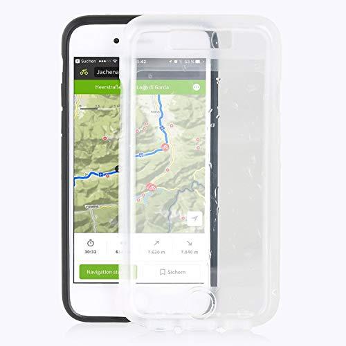 Wicked Chili Regen Überzug kompatibel mit iPhone 7 8 und SE 2 für QuickMOUNT Case Outdoor Schutzhülle Rain Coat (Wasserdicht Nach IPx4 Standard - Ohne Handyschale/Halterung) transparent
