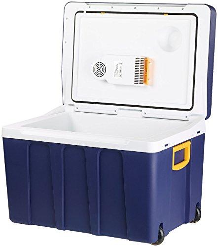 Xcase Auto Kühlbox: Thermoelektrische XXL-Trolley-Kühl- & Wärmebox, 12/24 & 230V, 50 Liter (Kühlbox 12 Volt)