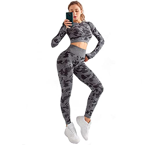 TANQIAN Yoga Sports Suit Running Quick-Drying Breathable Seamless Yoga Suit M Light Green