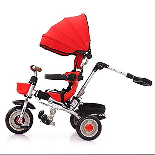 Fantastic Deal! Moolo Children's Tricycle, Kids Trikes Lightweight Foldable Canopy Pedal with Parent...