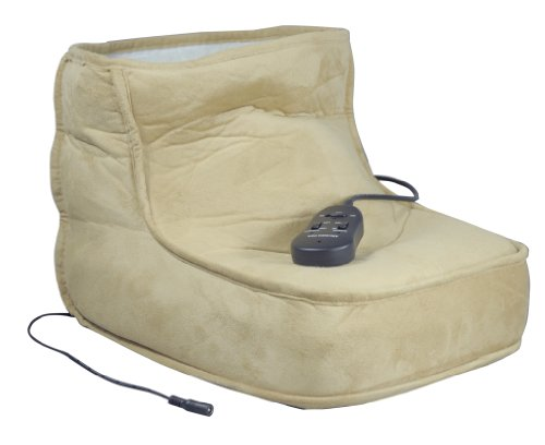 Comfortable Fleece Massage Dual Speed Electric Heated Foot Warmer...
