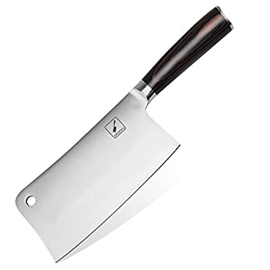 Imarku 7-Inch Stainless-Steel Chopper-Cleaver-Butcher Knife for Home Kitchen or Restaurant