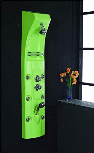 Haute Qualité Multi Fonction Gowe acrylique vert Panneau de douche de massage