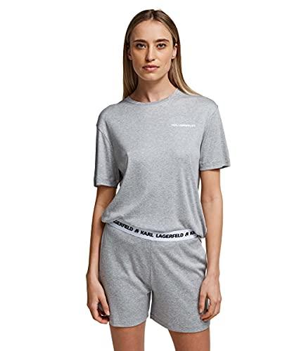 KARL LAGERFELD Logo Pyjama Shorts Pajama Bottom, Gris, XL para Mujer