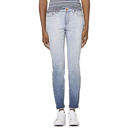 Roebuck & Co. Women's Jegging Mid-Rise Skinny Jeans - Dot Print R1893 (Size 6 Jegging)