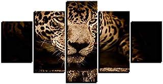 Autocollants Décoratifs Tableau Décoratif Mural, Cinq Peintures, Décoration Animale, Peinture, Canapé, Peinture Murale, Sa...
