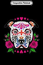 Composition Notebook: Day Of The Dead Pit Bull Skulls Mom Dog Rescue Sugar Skull  Journal/Notebook Blank Lined Ruled 6x9 100 Pages