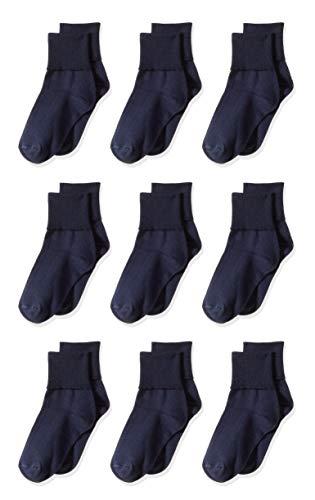 Amazon Essentials Girl's 9-Pack Cotton Uniform Turn Cuff...