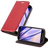Cadorabo Funda Libro para Motorola Moto G2 en Rojo Manzana - Cubierta Proteccíon con Cierre Magnético, Tarjetero y Función de Suporte - Etui Case Cover Carcasa