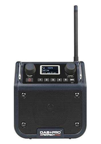 PerfectPro Baustellenradio Dab+pro Digitalradio-Empfang RDS-Senderinformation