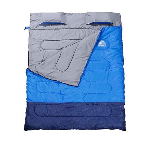 SSG Home Durable et Beau Sac de Couchage Outdoor Voyage Camping Polyester Tissu épais Chaud Adulte Voyage intérieur Respirant Portable étanche Confortable et Portable (Color : A)