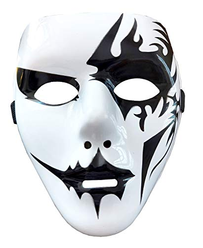 Mscara Pierrot Hip Hop Street Dance Carnaval Halloween Unisex Fantasma