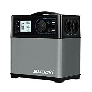 SUAOKI – 400Wh/120,000mAh Generador Portátil Solar, Cargador de Batería Almacenamiento Suministro de Energía (AC salida…