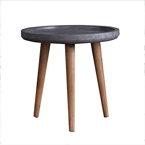 FENGFAN-Couchtisch, Wohnzimmer Runder Holztisch Balkone Mini Niedriger Tisch Beistelltisch Bettkopftische Hochwertiges Holz Tischbein, Leicht zu montieren FF