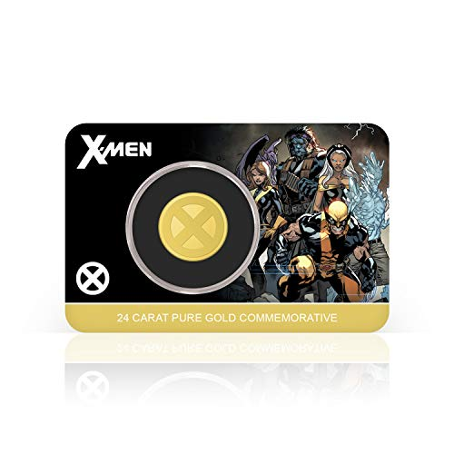 IMPACTO COLECCIONABLES X_Men Marvel Offizielle Gedenkmünze - Reines Gold 18mm