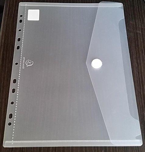 50x A4+ extra Starke (200micron) Prospekthülle, Dokumentenhülle, Umschlagtasche mit Klettverschluss zum Abheften von EXACOMPTA + 2 Prospekthüllen mit Klappe A4, 150my GLASKLAR von PS-Handelshaus