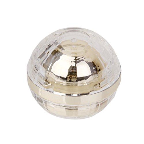 Bouteille Flacon Échantillon Vide Cosmétique Récipient de Crème Visage 5g - Doré