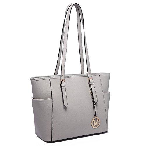 Miss Lulu Damen Schultertasche Elegant Shopper Tasche