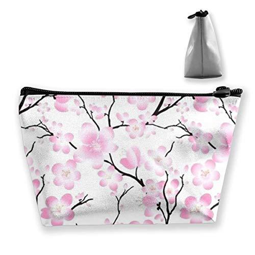 Bolsa multifunción para cosméticos de viaje, diseño de flor de cerezo