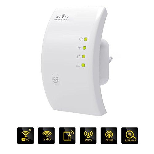 Meco WiFi WLAN Signal Verstärker Signalverstärkung 300Mbps N 802.11 AP Drahtlose WiFi Router Repeater Range Extender Booster EU-Stecker EUR