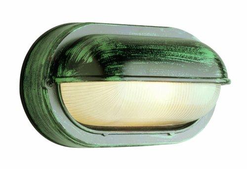 Trans Globe Lighting 4125 WH One Bulkhead Outdoor-Post-Lights, 8-1/2-Inch, Multi