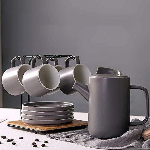 RXM koffiemok van Nordic keramische theeset voor het huishouden Afternoon Tea geschenk met houder van metaal Een