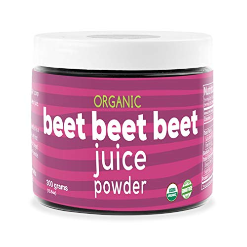 Beet Beet Beet - Organic Beet Juice Powder Supports Healthy Blood Pressure, Cholesterol - Pure USA Grown - No Additives or Flavors-Superfood Supplement - Nitric Oxide Boosting Nutrients