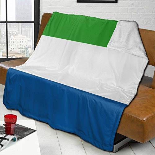 YUNJUAN Bandera de Sierra Leona, Manta de Cordero súper cálida, Manta para sofá Cama, 80'X 60', Funda cómoda y cálida para Todas Las Estaciones