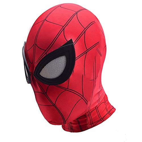 Spider-Man Superhero Cosplay Face Mask Kids Fancy Tillbehör Halloween Andningsskydd Hjälm För Barn 5~9 år Vuxna,Red-Kids Free Size