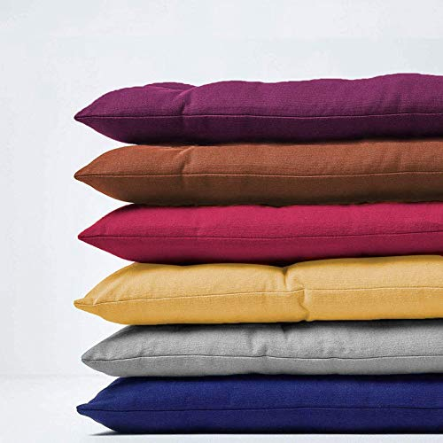 Deulxt EU Cojín de banco de 8 cm de grosor para interiores y exteriores, 2 cojines de asiento de banco de jardín de 3 plazas, cojín largo para cojín de banco (120 x 50 cm), color gris