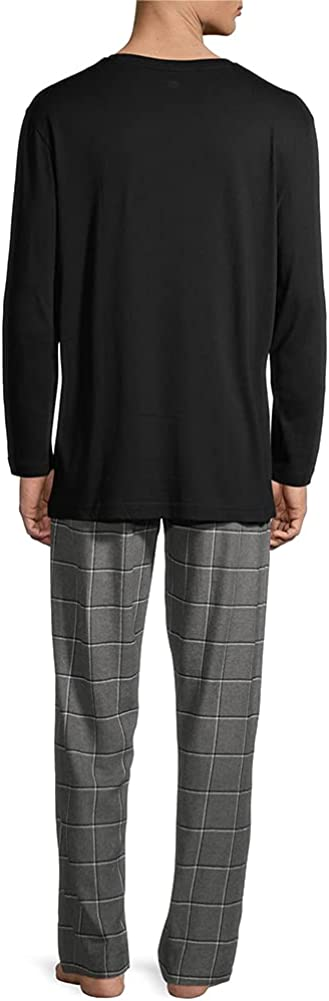 Hanes - Men's Jersey Flannel Sleep Lounge Pajama Set