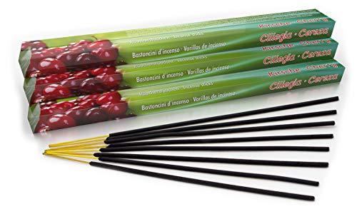 Varillas de incienso premium de cereza/cereza: natural tradicional de la India en producción justa....