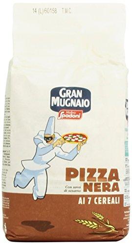 Molino Spadoni Gran Mugnaio Miscela per Pizza Nera con Semi di Sesamo, 1kg